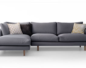 3D model Hampton Chaise Corner Sofa