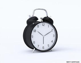 Alarm clock with twin bells 3D