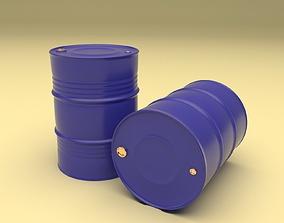 Metal Barrel 2in1 3D asset