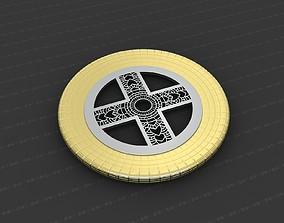 Cross Medallion 3D print model coins-badges