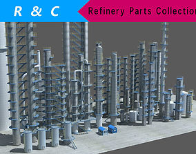 industry tanks 3D asset