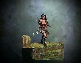 female Red Sonja 35mm scale 3D print model