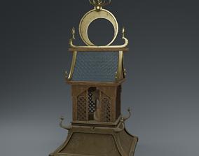 Temple house low-poly 3D asset