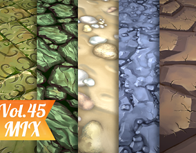 3D model Stylized Ground Vol 45 - Hand Painted Texture