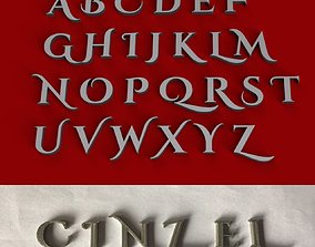 CINZEL 3D letters STL file