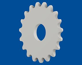 3D print model 25H 19 teeth chain sprocket with 8mm