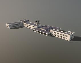 Airport Terminal LKPR Military Terminal Prague 3D asset 1