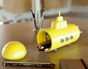 Submarine shaped case 3D print model
