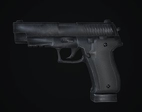 Sig Sauer P226 Low-poly 3D Model pistol low-poly