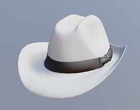 3D asset game-ready fedora hat