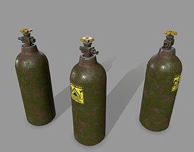 Oxygen Tank 3D asset game-ready
