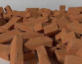 3D Detailed clay Brick