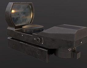 3D model realtime PBR Red dot sight