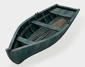 Old Boat 3D Asset game-ready