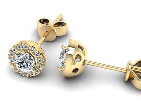 Jewelry Earrings 001 3D print model silver