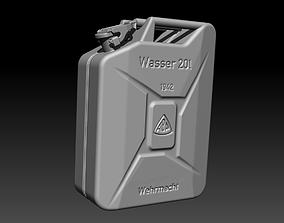 3D print model German water can WW2