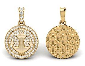 Diamond Anchor Pendant 02 3D printable model