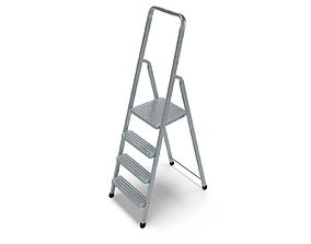 Steel Ladder 3D model