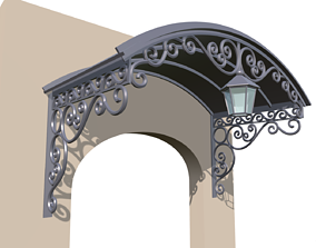 3D printable model Porch canopy