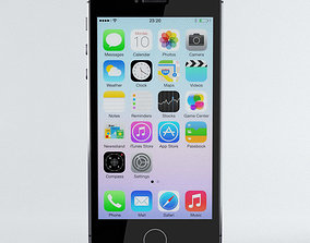 3D Apple iPhone 5s Space Grey