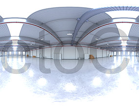 3D asset HDRI - Industrial Warehouse Interior 12