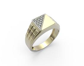 signet ring 3d printed earrings