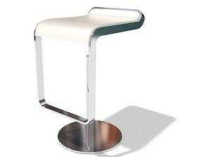 3D model Futuristic White Bar Chair
