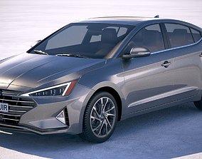 3D model Hyundai Elantra 2019 liftback