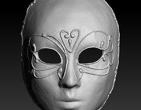 Venetian Mask Girl 3D print model