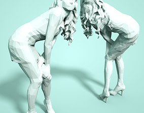 Girl Low poly Sculpture 3D printable model