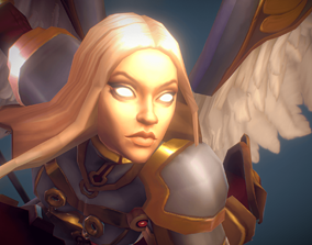 3D asset Low Poly Angel Female