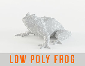 Low Poly Frog Animal - Toad - Paddock - 3D asset