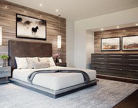 Realistic Interior Corona Bedroom 3D model