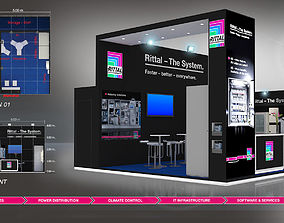 3D asset Rittal booth design size 6X5m area 30sqm