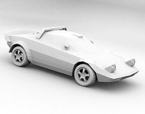 3D model Low poly Lancia Stratos