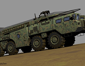 3D model Soviet Scud launcher system