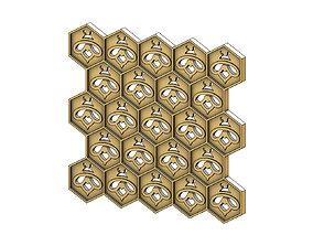 3D print model Beehive motif relief