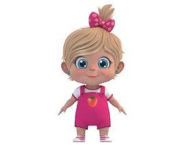 role Cartoon Cute Baby Girl 3D model