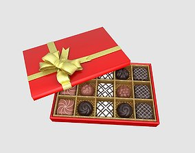 CHOCOLATE GIFT BOX 3D