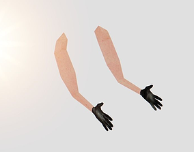 3D model Very low poly fps arms