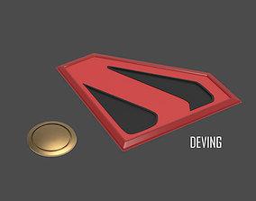 KINGDOM COME SUPERMAN EMBLEM AND BELT 3D printable model 1