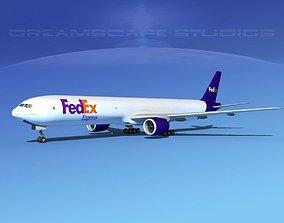 Boeing 777-300 FedEx 3D