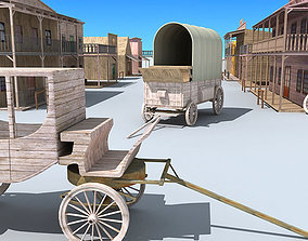 3D model Old Western Town