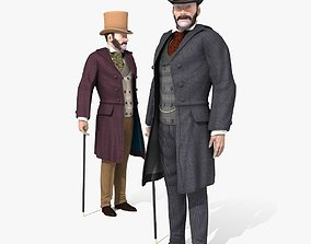 Victorian Gent - Rigged - 1 model 2 versions - Low 3D