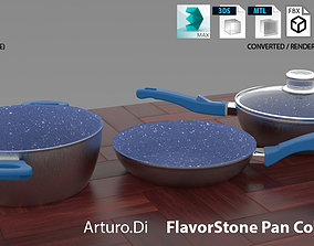 Flavor stone Pan Collection 3D model