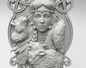 Freya panel by Scandinavian mythology 3D print model