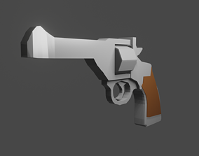 3D asset Webley MK IV Revolver