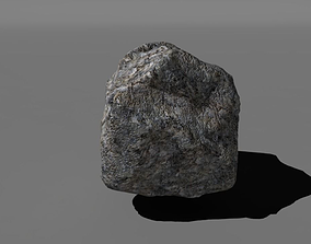 low poly rock 3D model realtime