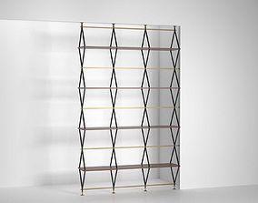 3D Romboidale Bookshelf