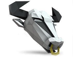 Bull mask 3D
